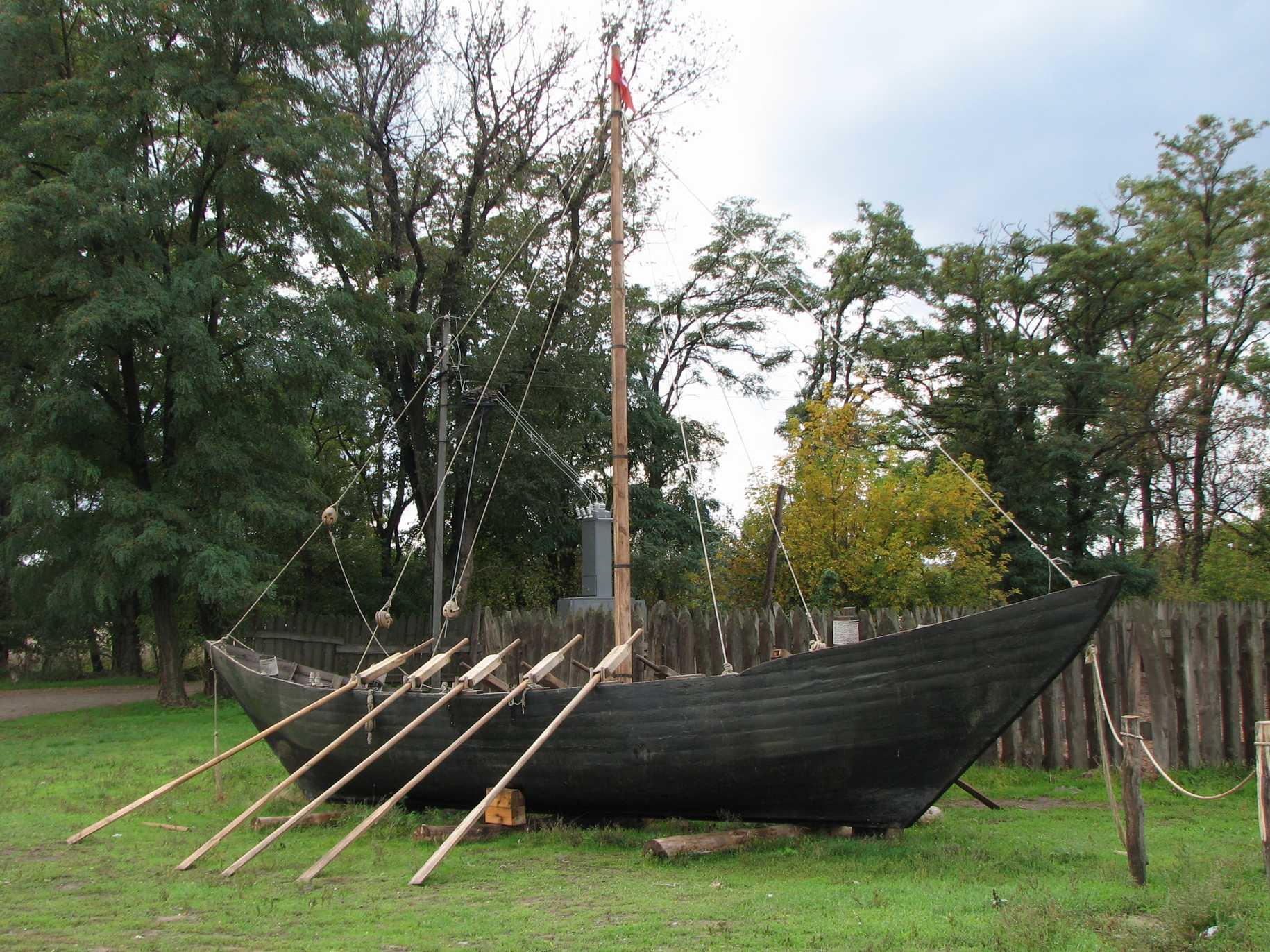 лодка запорожских казаков
