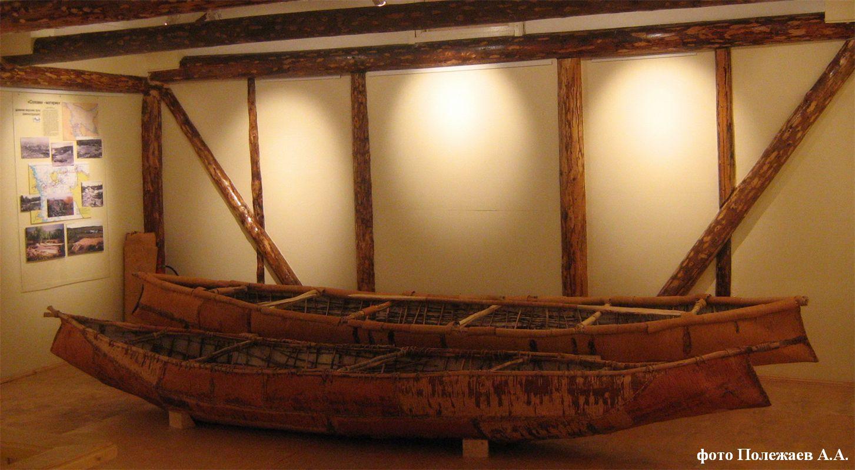лодка северных народов из шкур